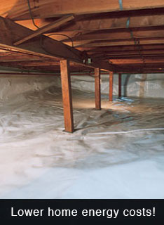 Repair your crawl space and reduce your home's heating & cooling costs.